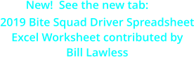 New!  See the new tab:  2019 Bite Squad Driver Spreadsheet Excel Worksheet contributed by Bill Lawless